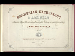 Daguerian Excursions in Jamaica -Title Page